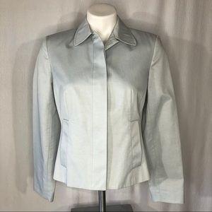 Ann Taylor Petites Powder Blue Jacket/Blazer